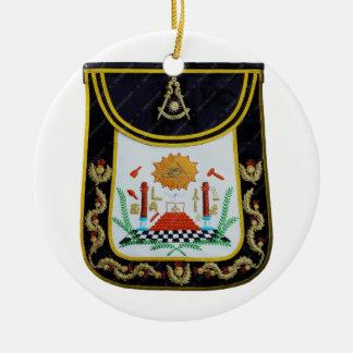 De fancy Afgelopen Schort van Meesters Rond Keramisch Ornament