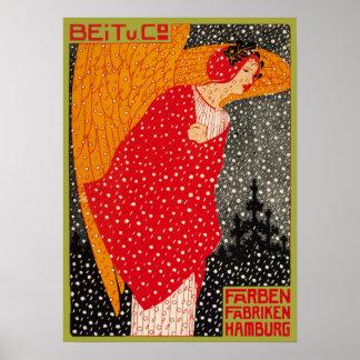 De Fantasie Georg Tippel Vintage German Angel van  Poster