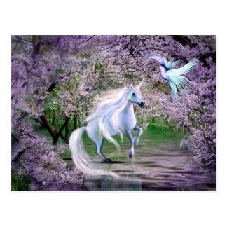 De fantasie van de Eenhoorn van de lente Briefkaart