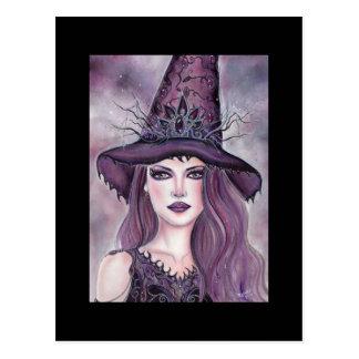 De fantasie van de heks van Halloween van Contessa Briefkaart