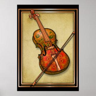 De Fantasie van de viool Poster