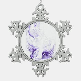 De fantasie van de winter tin sneeuwvlok ornament