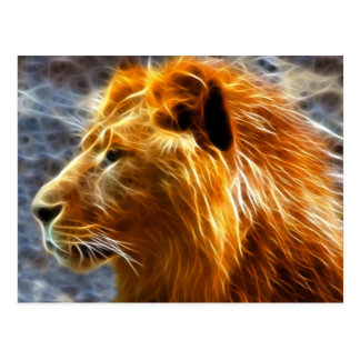 De fantasiebriefkaart van de leeuw briefkaart