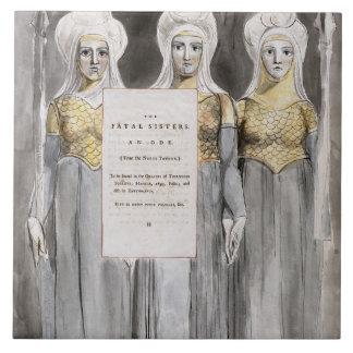 De fatale Zusters, ontwerpen 67 van de 'Gedichten  Tegeltje Vierkant Large