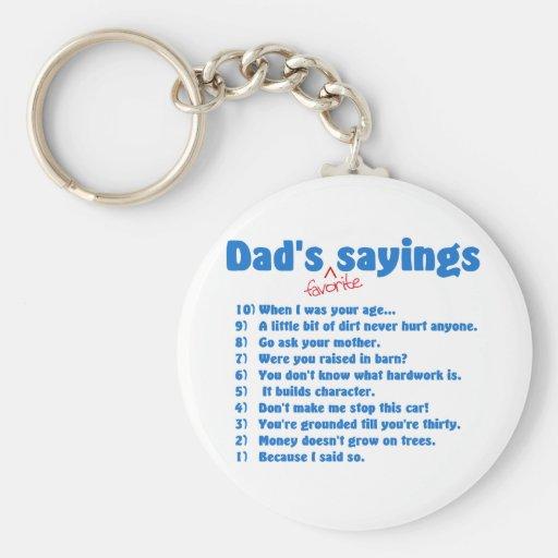De favoriete spreuken van Dads keychain Sleutelhanger