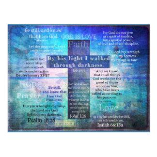 De favoriete Verzen van de Bijbel met Christelijk Briefkaart