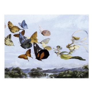 De fee Koningin Takes een Luchtige Aandrijving Briefkaart