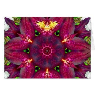 De Fee Mandala van de orchidee Wenskaart