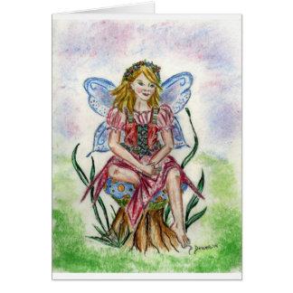 De fee van de paddestoel wenskaart