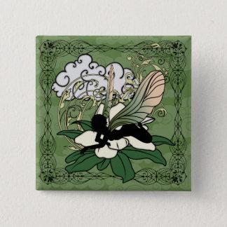 De Fee van de Schaduw van de magnolia Vierkante Button 5,1 Cm
