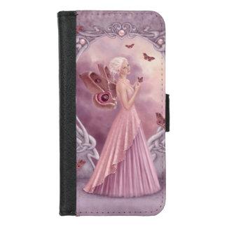 De Fee van de Vlinder van Birthstone van de parel iPhone 8/7 Portemonnee Hoesje