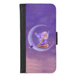 De Fee van de Vlinder van de Maan van de lavendel iPhone 8/7 Portemonnee Hoesje