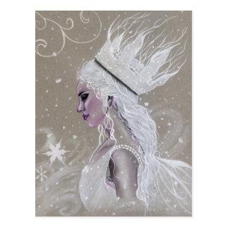 De Fee van de winter Koningin Postcard Briefkaart