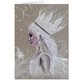 De Fee van de winter Koningin Wenskaart