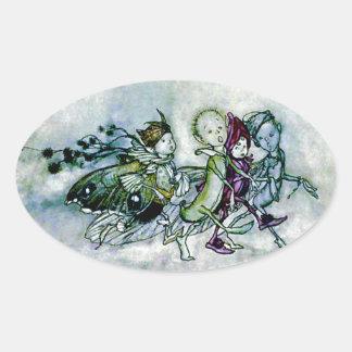 De Feeën van de Droom van een van de Midzomer Ovale Sticker
