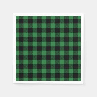 De feestelijke Groene Vakantie van het Patroon van Wegwerp Servet