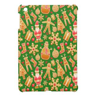 De feestelijke Kerstman en Peperkoek van de iPad Mini Hoesjes