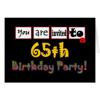 De feestelijke & Kleurrijke 65ste Uitnodiging van