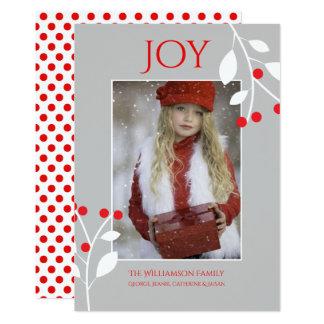 De feestelijke Rode Kaart van de Foto van Kerstmis