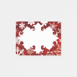 De feestelijke sneeuwvlokken van Kerstmis Post-it® Notes