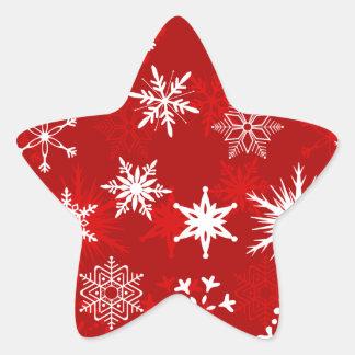 De feestelijke sneeuwvlokken van Kerstmis Ster Sticker