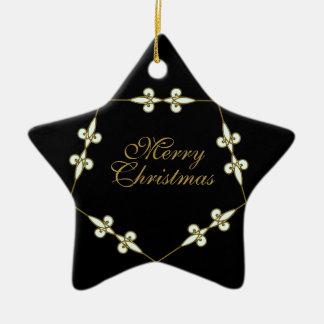 De feestelijke Victoriaans Vintage Ster van de Keramisch Ster Ornament