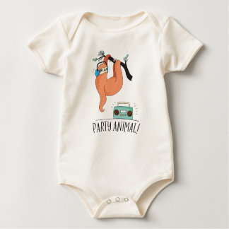 De Feestneus van de luiaard Baby Shirt
