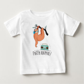 De Feestneus van de luiaard Baby T Shirts