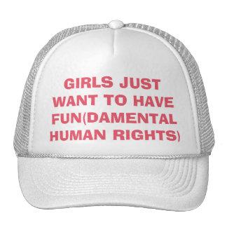 De feministische Meisjes willen enkel Rechten Mesh Pet