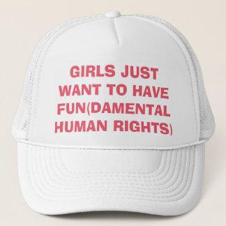 De feministische Meisjes willen enkel Rechten Trucker Pet