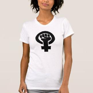 De Feministische (Zwarte) Vuist van de Macht van T Shirt