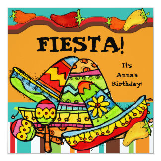 De fiesta Aangepaste Uitnodigingen van de