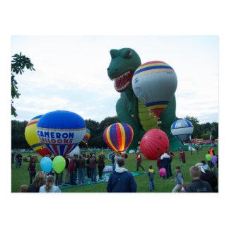 De fiesta van de ballon briefkaart