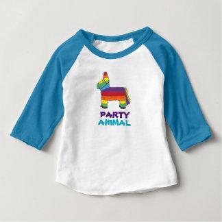 De Fiesta van de Verjaardag van Piñata van de Ezel Baby T Shirts