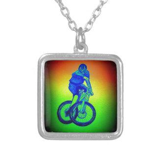 De fiets Llandegla van de berg mtb bmx Zilver Vergulden Ketting