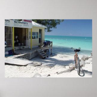 De Fiets van Antigua met een Uitzicht Poster