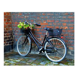 De Fiets van de Mand van de bloem, Kopenhagen, Briefkaart