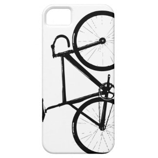 De Fiets van het spoor - zwarte op wit Barely There iPhone 5 Hoesje