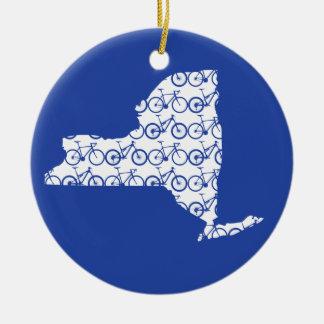 De Fiets van New York Rond Keramisch Ornament