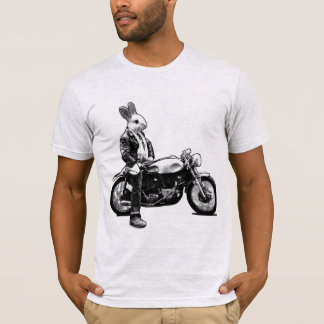 De fietser van het konijntje t shirt