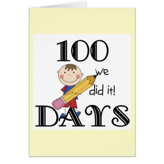 De Figuur van de stok 100 Dagen Briefkaarten 0