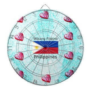 De Filipijnse Taal van Wikang en de Vlag van Dartbord