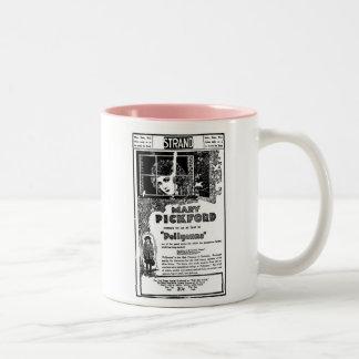De filmreclame van Mary Pickford POLLYANA 1920 Tweekleurige Koffiemok