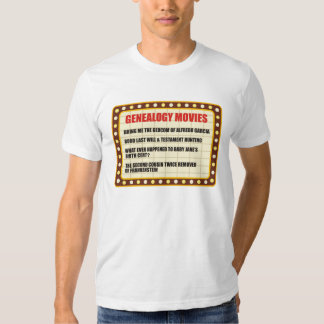 De Films van de genealogie T Shirt