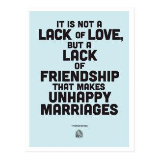 De filosofiecitaat van het huwelijk briefkaart
