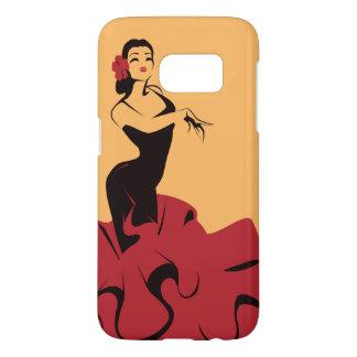 de flamenco danser in spectaculair stelt samsung galaxy s7 hoesje