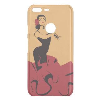 de flamenco danser in spectaculair stelt uncommon google pixel XL hoesje