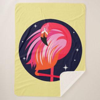De Flamingo van de slaap Sherpa Deken