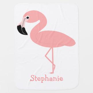 De flamingo voegt enkel Naam toe Inbakerdoek
