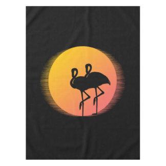De Flamingo's van de zonsondergang Tafelkleed